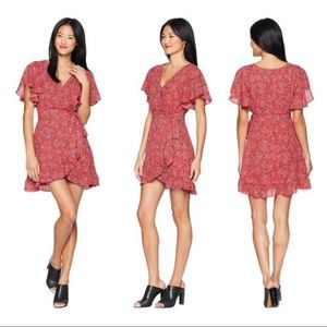 NWT Jack by BB Dakota Bella Rose Wrap Floral Dress